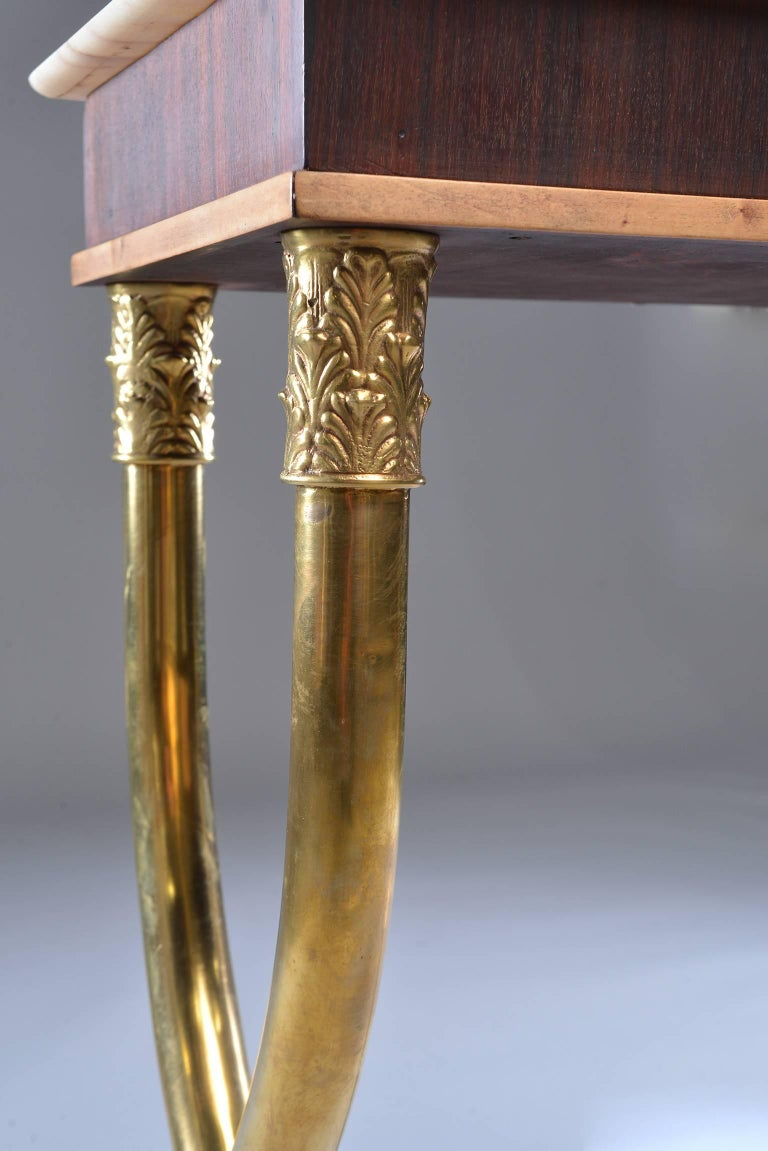 Italian Brass and Marble Neoclassical Style Console For Sale 6