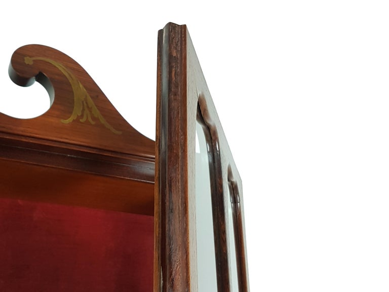Italian Brass and Rosewood 1950s Trumeau by Paolo Buffa & Giovanni Gariboldi For Sale 5