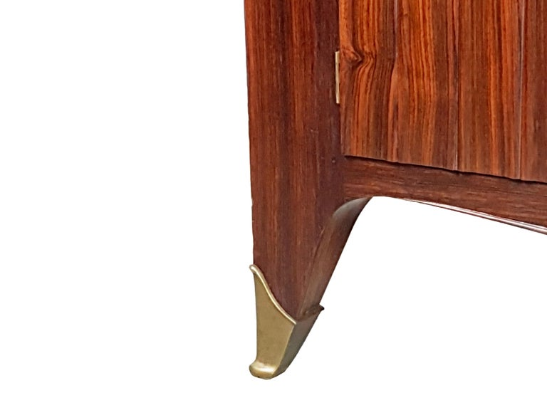 Italian Brass and Rosewood 1950s Trumeau by Paolo Buffa & Giovanni Gariboldi For Sale 8