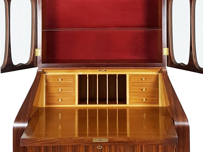 Italian Brass and Rosewood 1950s Trumeau by Paolo Buffa & Giovanni Gariboldi For Sale 1
