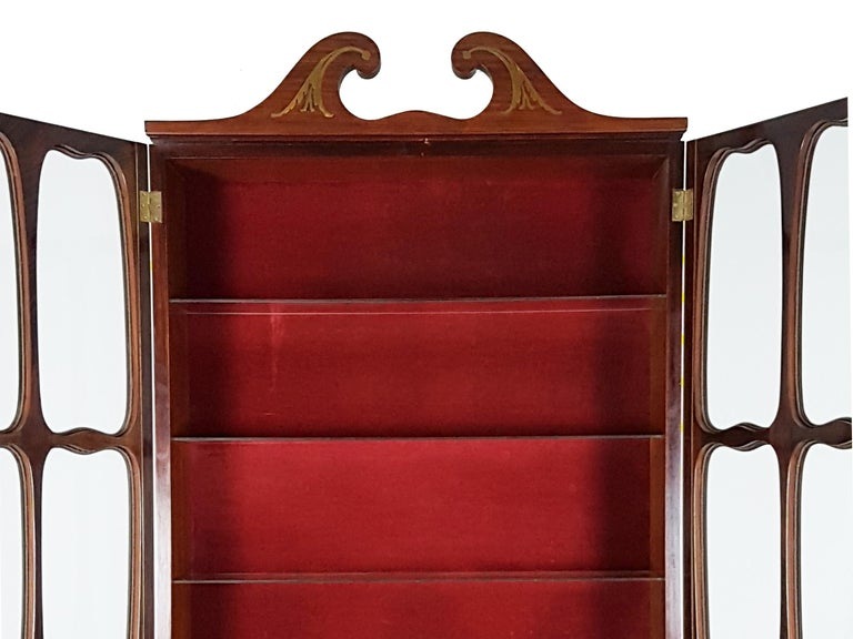 Italian Brass and Rosewood 1950s Trumeau by Paolo Buffa & Giovanni Gariboldi For Sale 4
