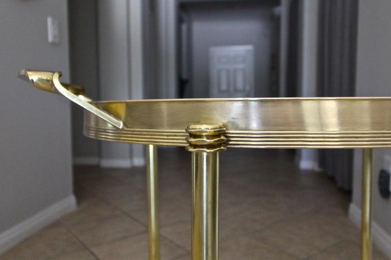 Italian Brass Bar or Tea Cart For Sale 7
