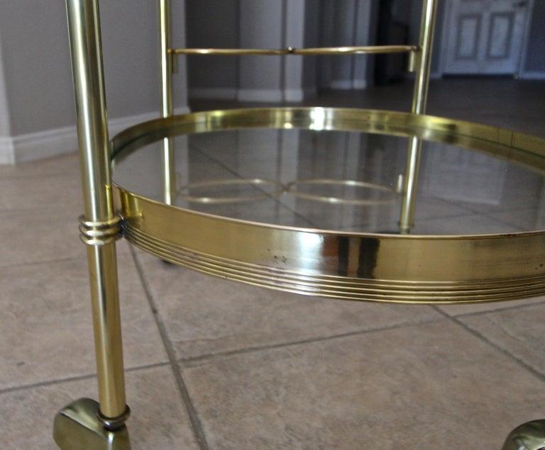 Italian Brass Bar or Tea Cart For Sale 8