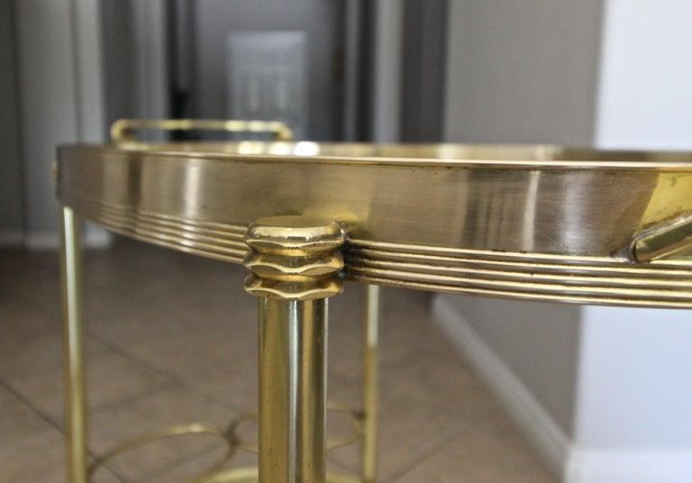 Italian Brass Bar or Tea Cart For Sale 9