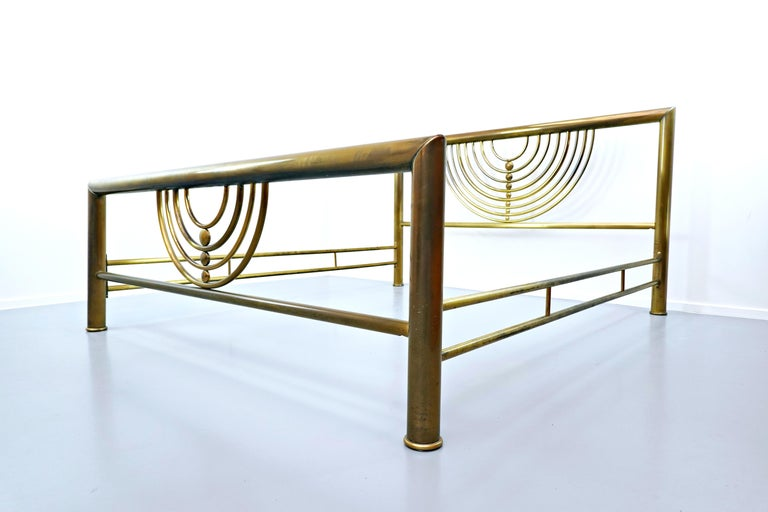 Italian brass bed.