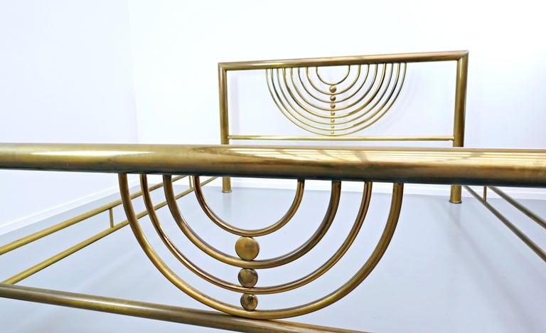 Mid-Century Modern Italian Brass Bed For Sale