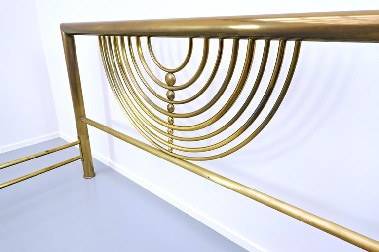 20th Century Italian Brass Bed For Sale
