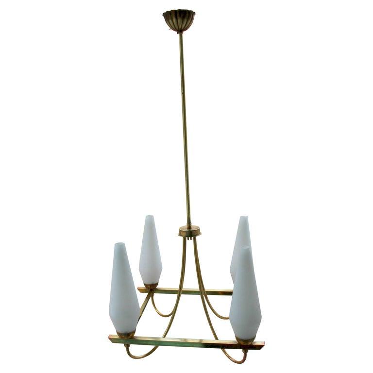 Italian Brass Chandelier For Sale