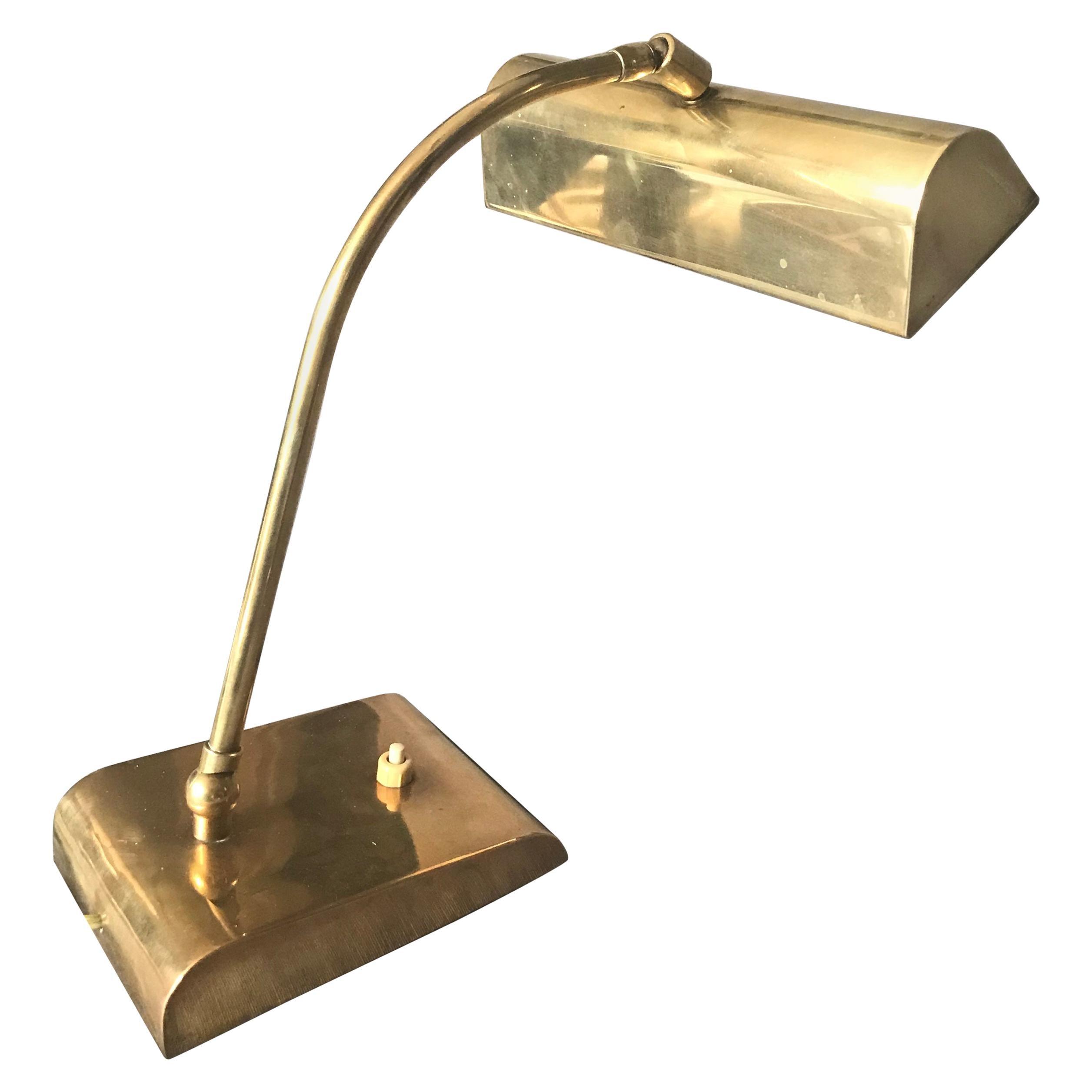 Italian Brass Desk Lamp