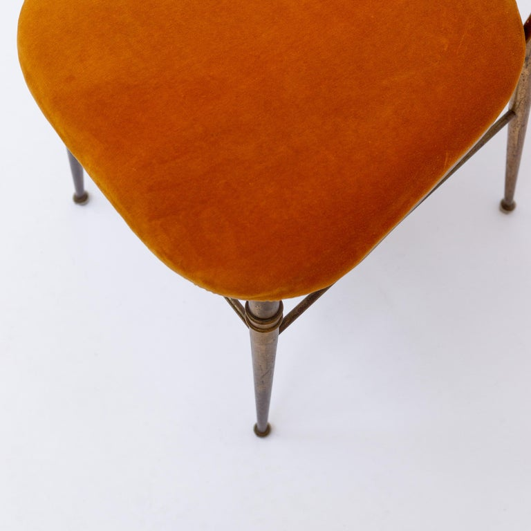 Italian Brass Dining Chair from Descalzi Giuseppe Gaetano, 1960s For Sale 6