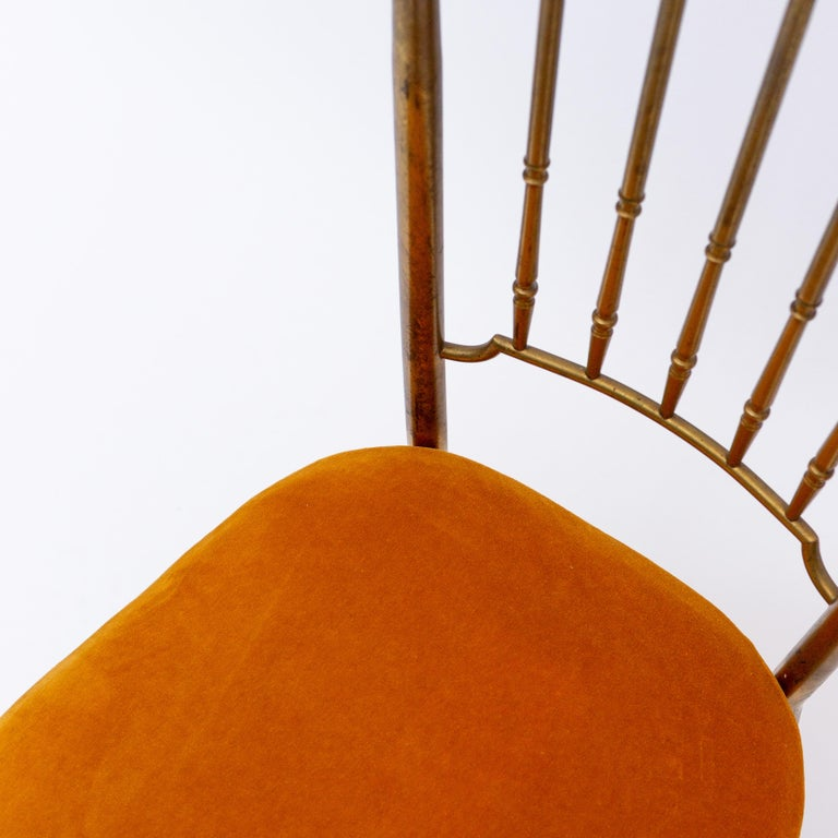 Italian Brass Dining Chair from Descalzi Giuseppe Gaetano, 1960s For Sale 3