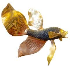 Italian Brass Fish Sculpture