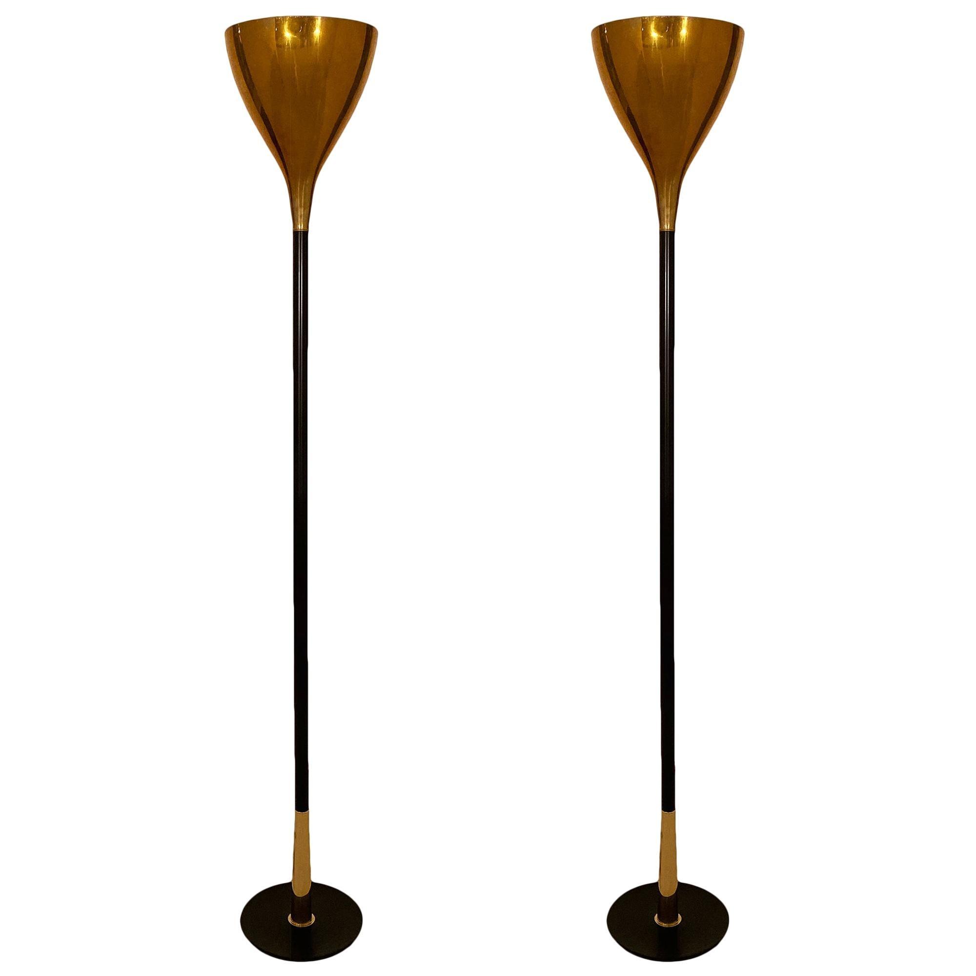 Italian Brass Floor Lamps