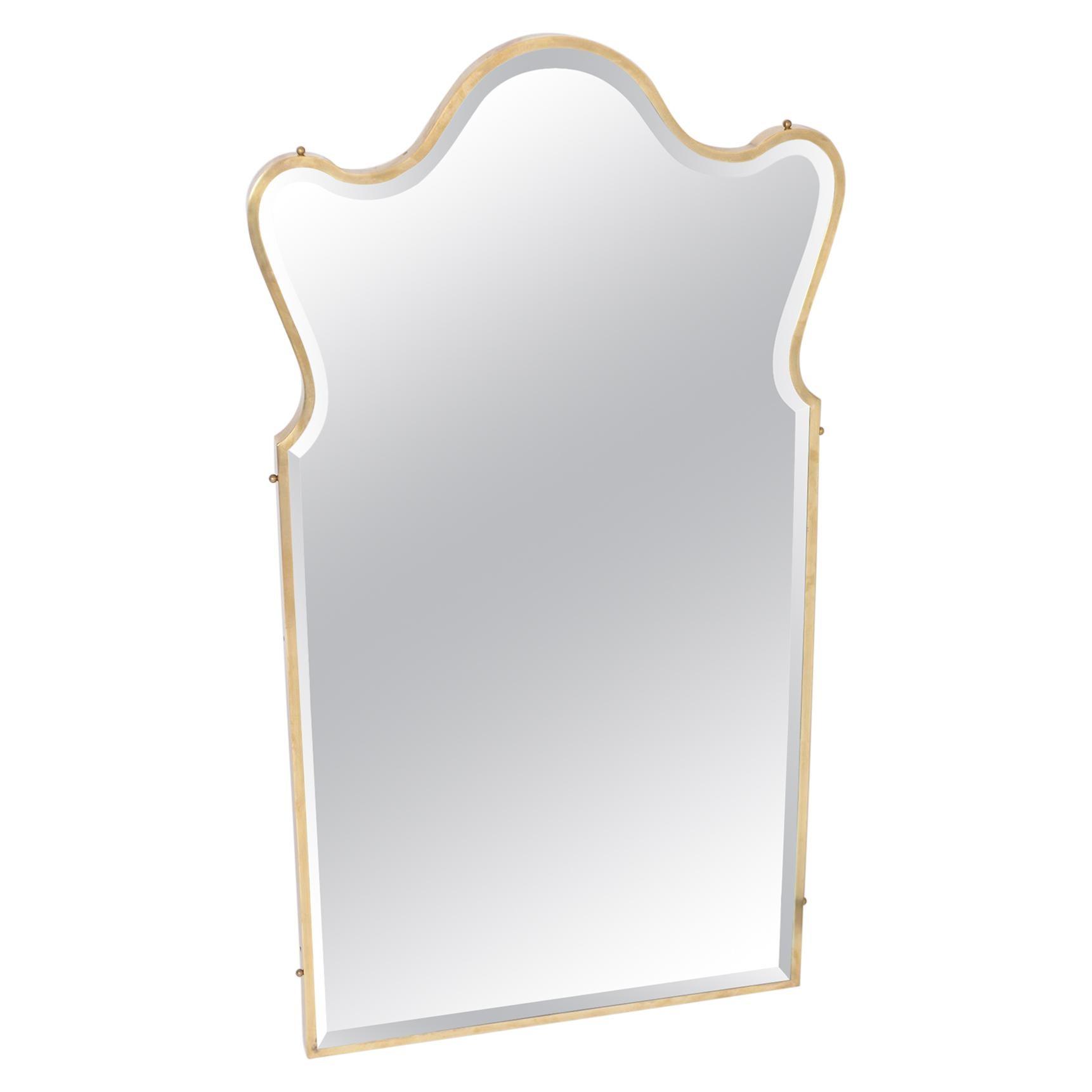Italian Brass Frame Bevelled Mirror