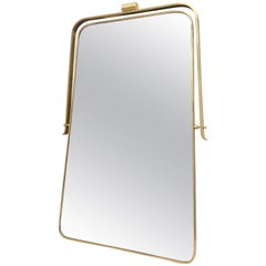 Italian Brass Frame Mirror, circa 1950s Gio Ponti Attributed