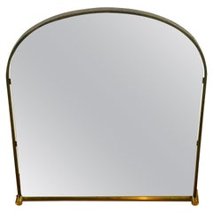 Italian Brass Framed Rectangle Wall Mirror, 1960s, Italy