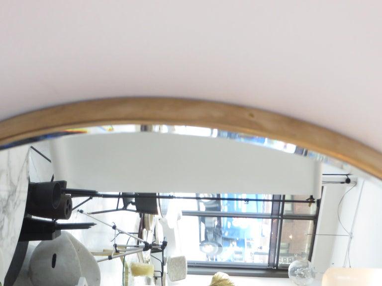 Italian Brass Framed Vintage Round Mirror with Bevel 3