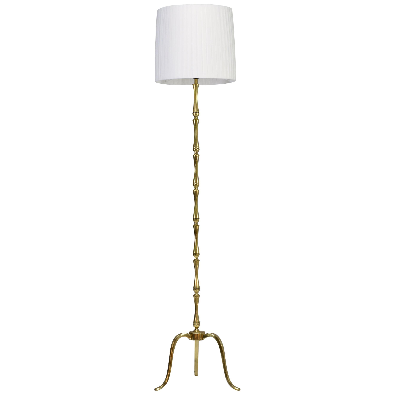 Italian Brass Midcentury Floor Lamp, 1960s
