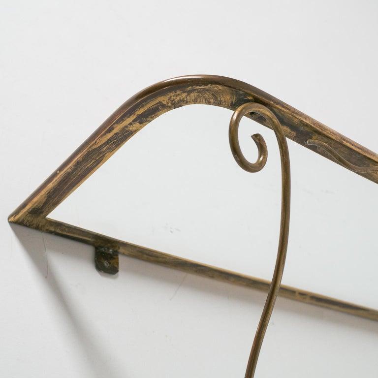 Italian Brass Mirror and Console, circa 1950 For Sale 8