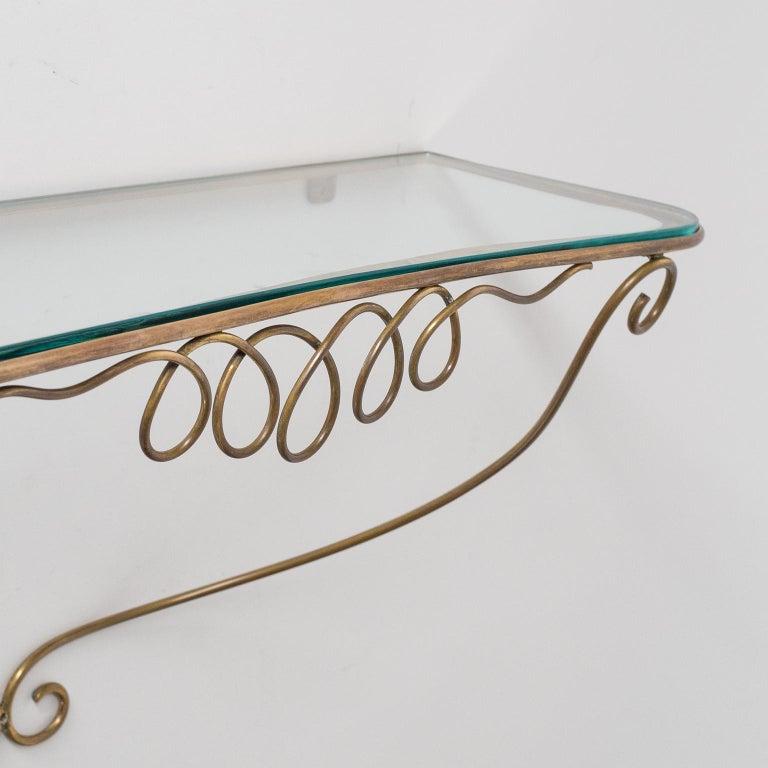 Italian Brass Mirror and Console, circa 1950 For Sale 10