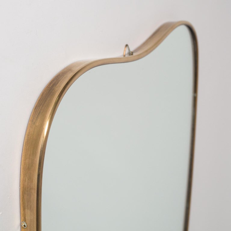 Italian Brass Mirror and Console, circa 1950 In Good Condition For Sale In Vienna, AT