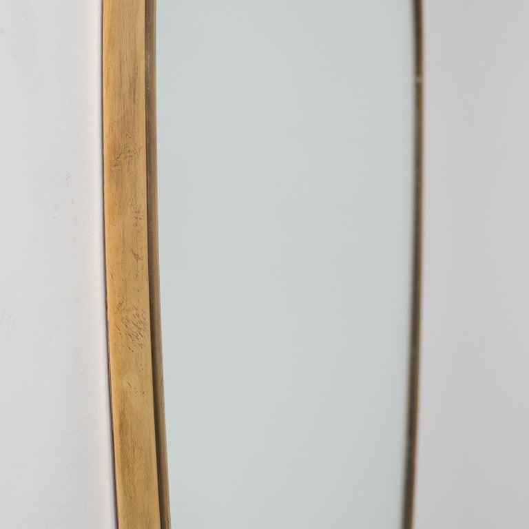 Mid-20th Century Italian Brass Mirror and Console, circa 1950 For Sale