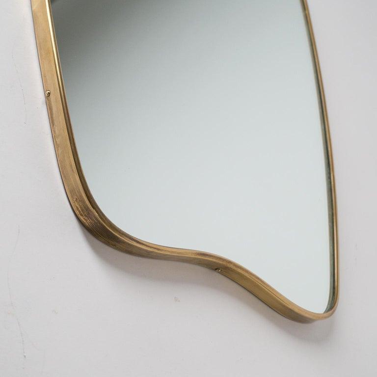 Italian Brass Mirror and Console, circa 1950 For Sale 3