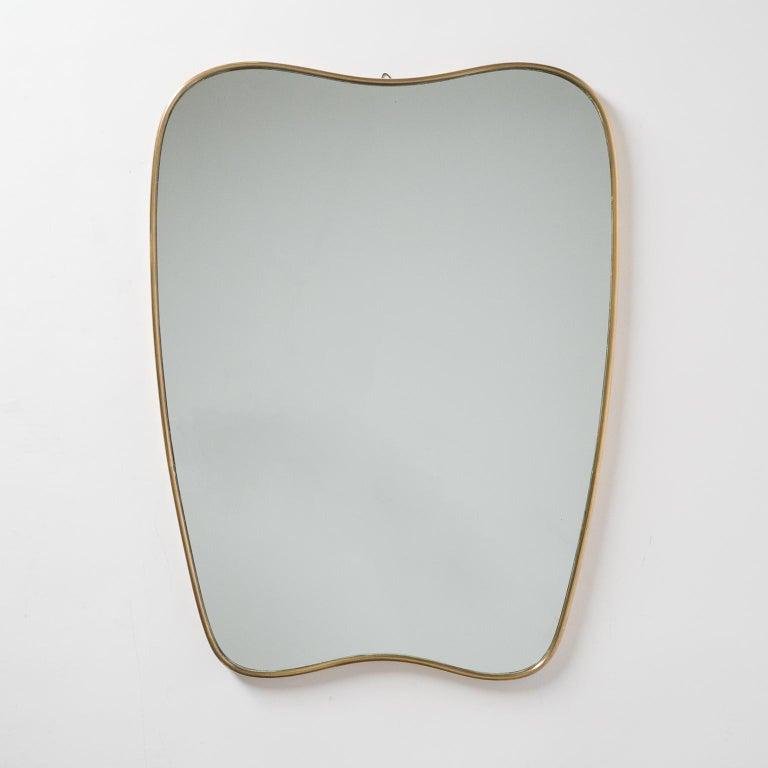 Italian Brass Mirror and Console, circa 1950 For Sale 4