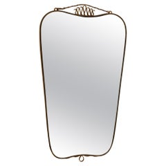 Italian Brass Mirror, c. 1950