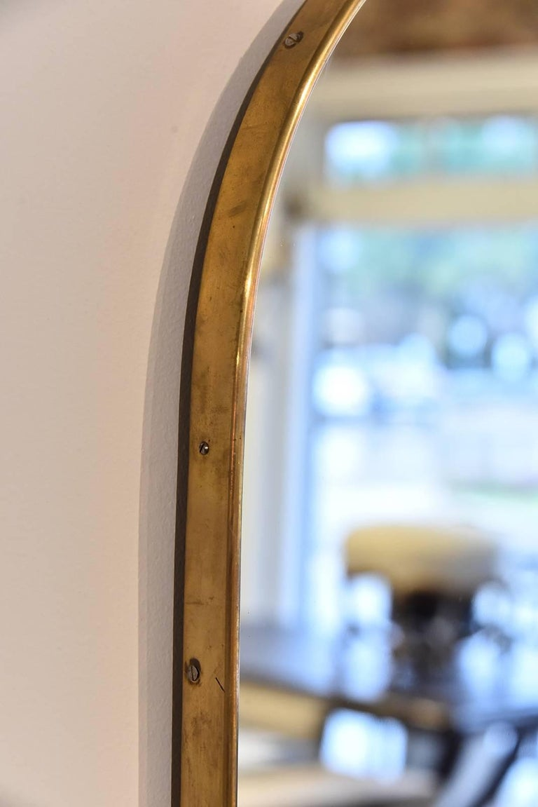 Italian Brass Mirror For Sale 1