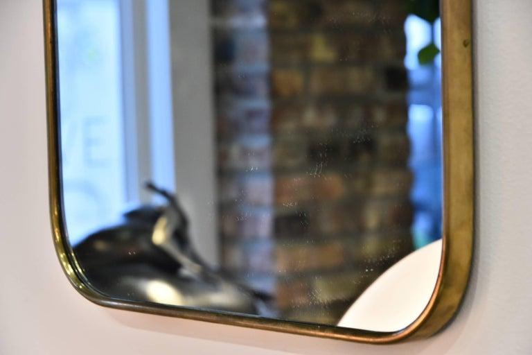 Italian Brass Mirror For Sale 2