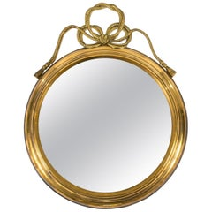Italian Brass Mirror with Ribbon Bow