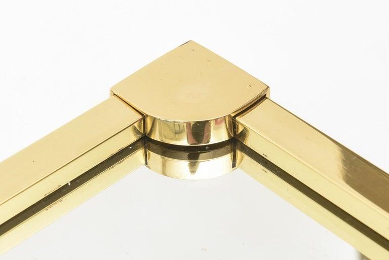 Italian Brass Modernist Tray Serving Tray Barware Mid-Century Modern For Sale 1