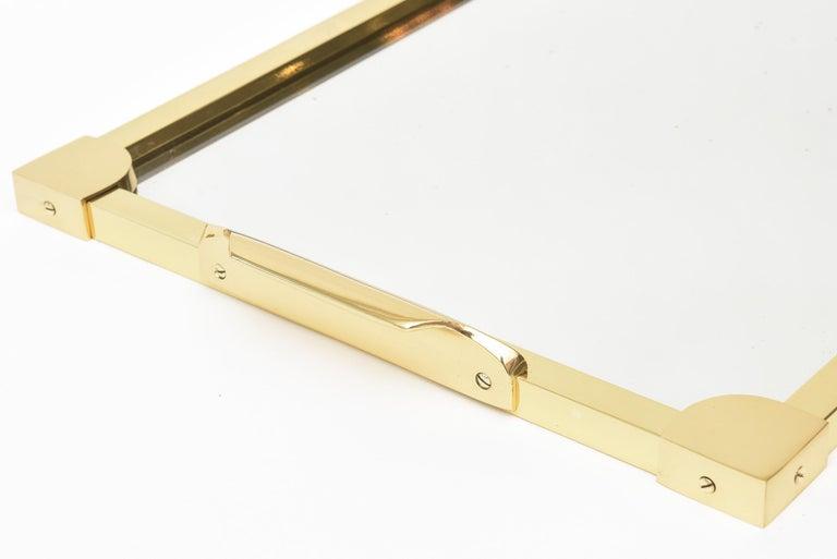 Italian Brass Modernist Tray Serving Tray Barware Mid-Century Modern For Sale 2