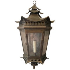 Italian Brass Pagoda Large Sconce