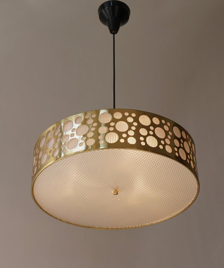 Italian Brass Pendant Light For Sale 5