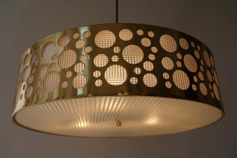 Italian Brass Pendant Light For Sale 6
