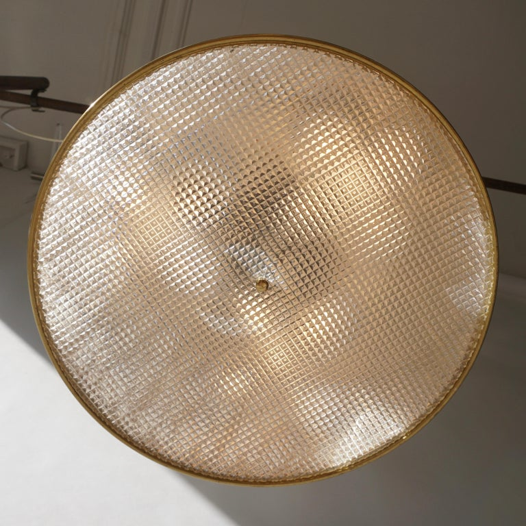 Italian Brass Pendant Light For Sale 7