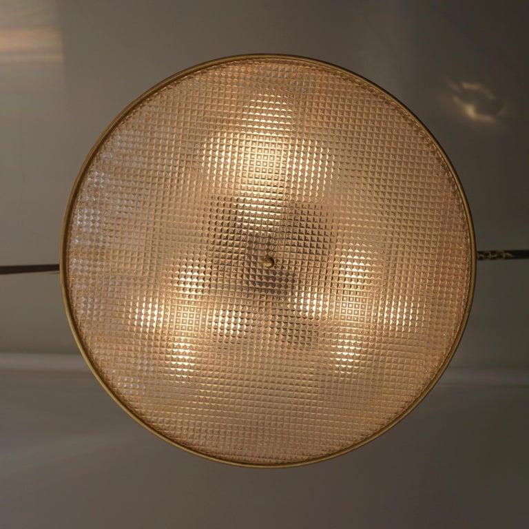 Italian Brass Pendant Light For Sale 8