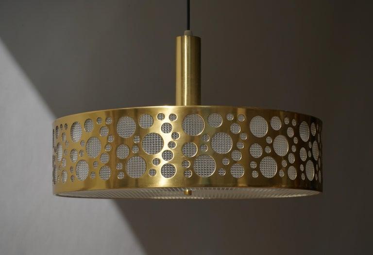 Italian Brass Pendant Light For Sale 1
