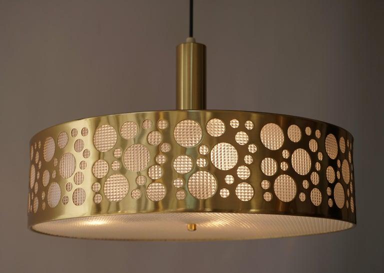 Italian Brass Pendant Light For Sale 2