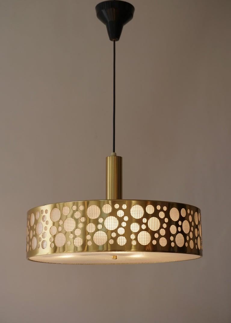 Italian Brass Pendant Light For Sale 3
