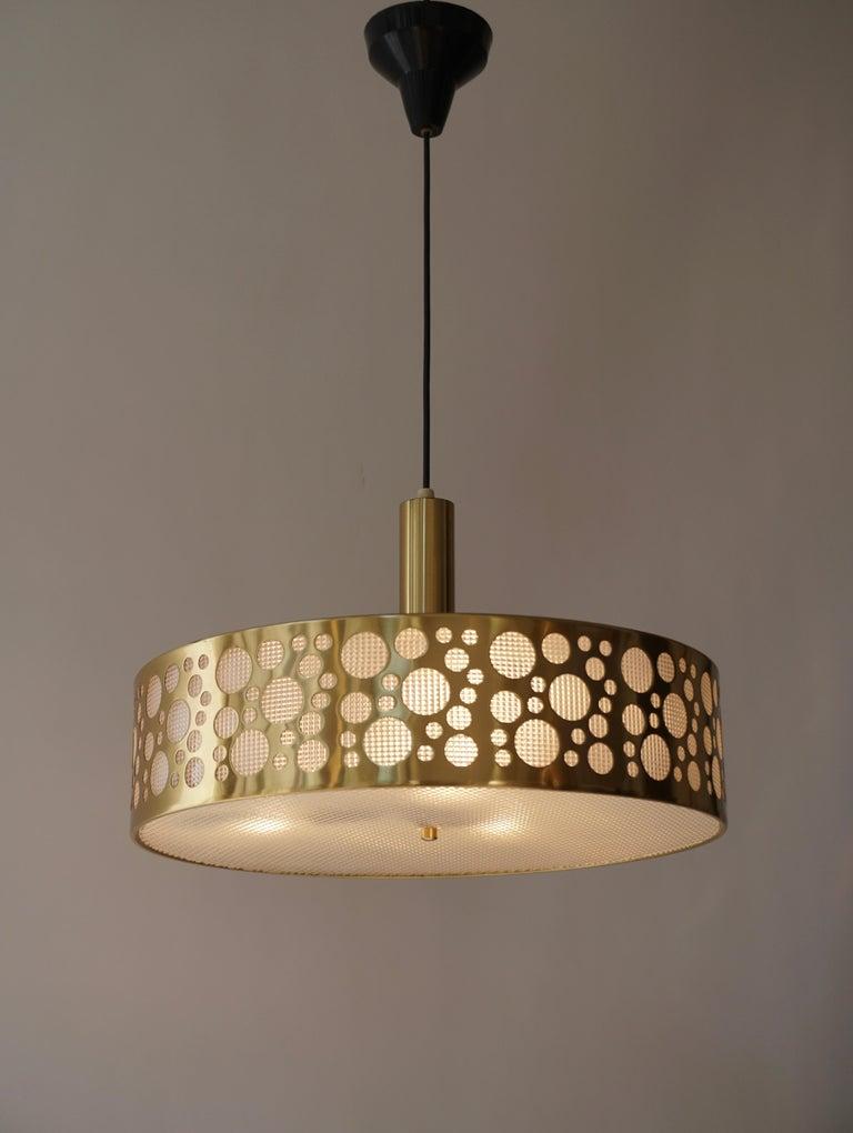 Italian Brass Pendant Light For Sale 4