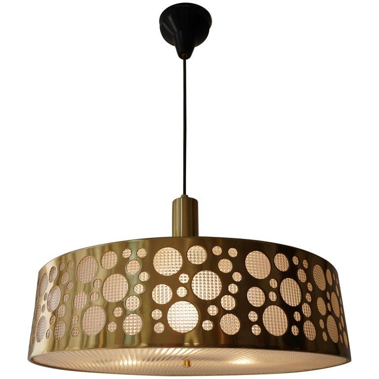 Italian Brass Pendant Light For Sale
