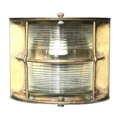 Italian Brass Ship Lamp