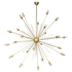 Italian Brass Sputnik Chandelier Circa 2000