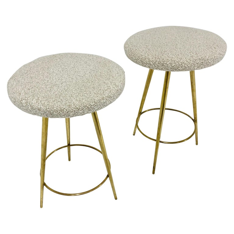 Italian Brass Stools For Sale