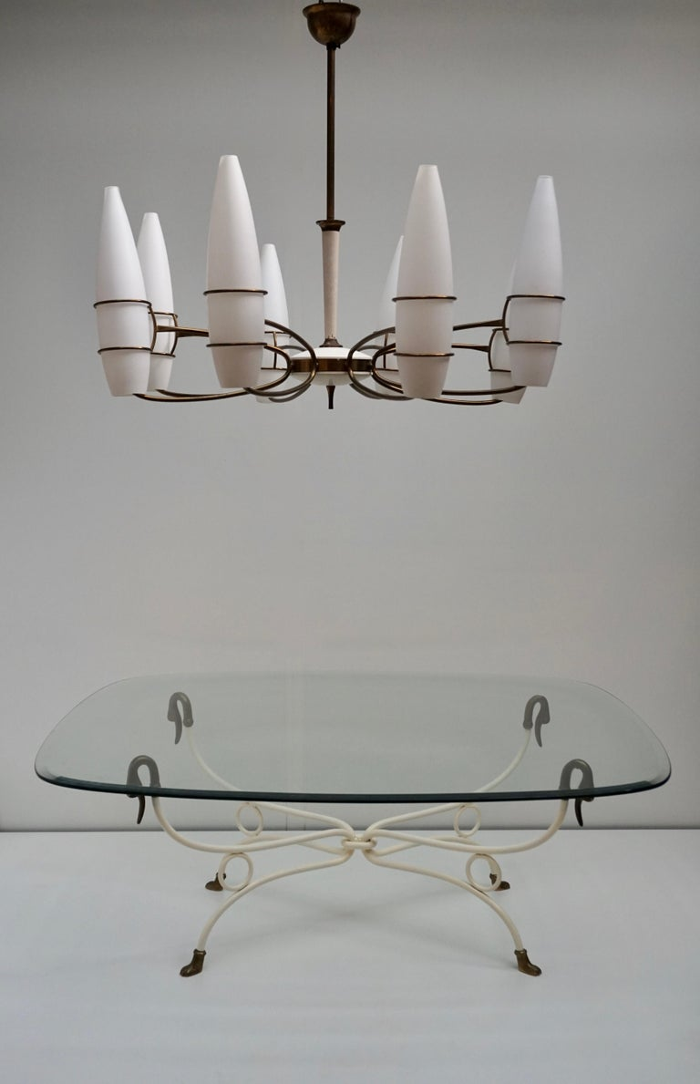 Italian Brass Swan Coffee Table,1950s For Sale 2