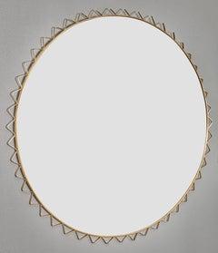 Italian Brass Vintage Mirror