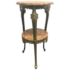 Italian, Bronze and Marble Pedestal